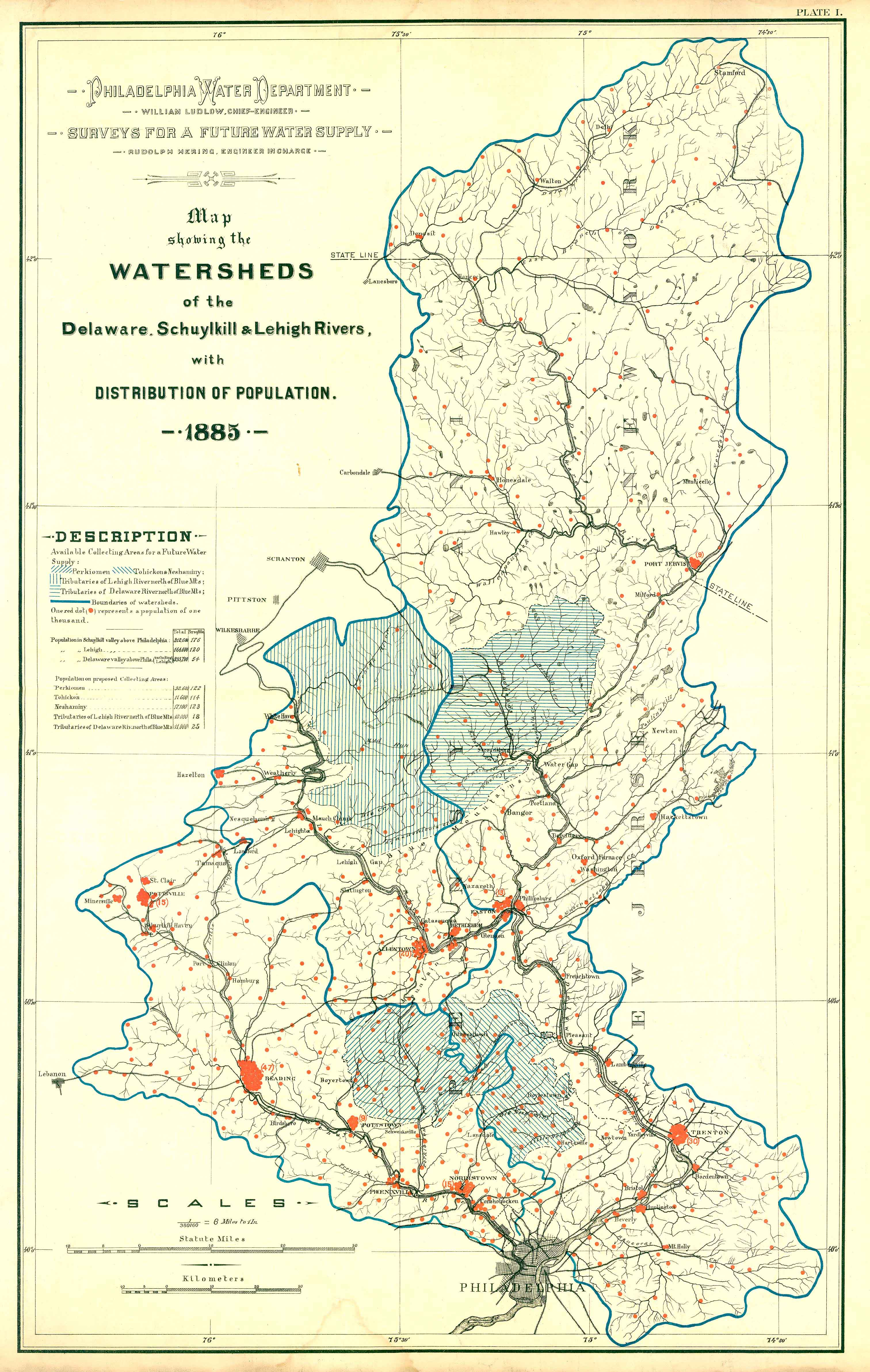 Philly HO Watershed And Topographical Maps - Topographical map of pa
