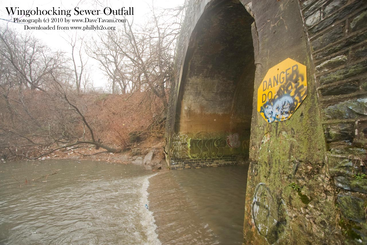 Philly H2o Wingohocking Combined Sewer Outfall Pictures