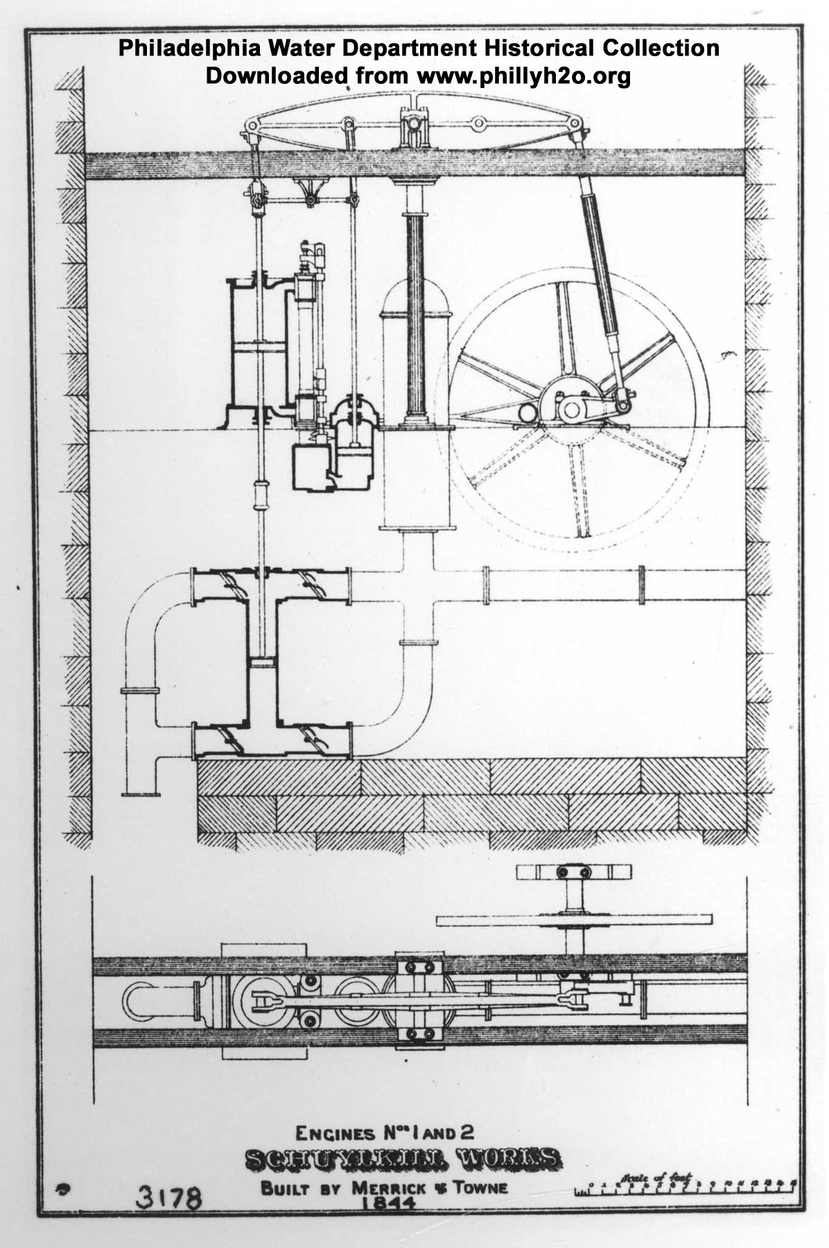 The Water Works Of City Philadelphia Oliver 1850 Wiring Diagram Free Download Schematic Engines Nos