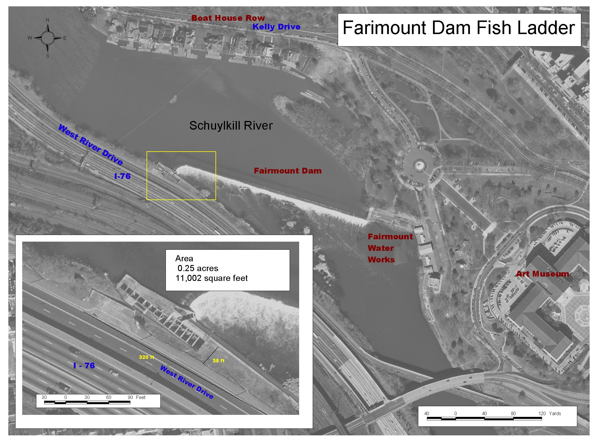 Philly h2o fairmount dam fishway for Dam fish count